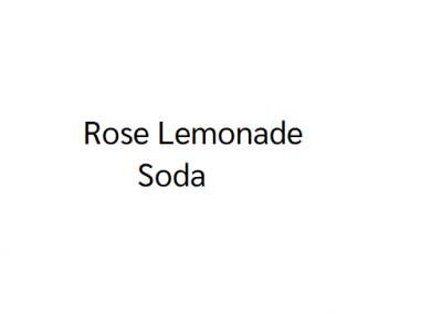 Rose Lemonade Soda